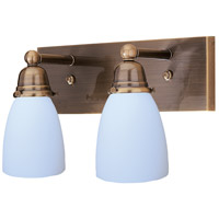 Arroyo Craftsman SLB-2-AB Simplicity 2 Light 14 inch Antique Brass Wall Mount Wall Light Glass Sold Separately