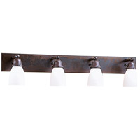 Arroyo Craftsman SLB-4-BZ Simplicity 4 Light 36 inch Bronze Wall Mount Wall Light, Glass Sold Separately