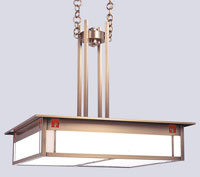 State Street 4 Light 23 inch Antique Brass Pendant Ceiling Light in Red and White Opalescent Combination