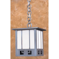 State Street 1 Light 8 inch Pewter Pendant Ceiling Light in Blue and White Opalescent Combination