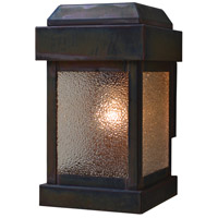 Arroyo Craftsman SYW-7DD-RC Sydney 1 Light 12 inch Raw Copper Outdoor Wall Lantern