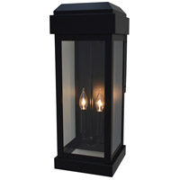 Arroyo Craftsman SYW-9CLR-BK Sydney 2 Light 24 inch Satin Black Outdoor Wall Lantern