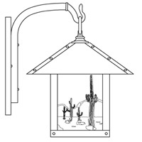 Arroyo Craftsman TRB-12CTCR-MB Timber Ridge 1 Light 15 inch Mission Brown Outdoor Wall Mount in Cream