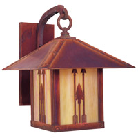 Arroyo Craftsman TRB-9ARGW-RC Timber Ridge 1 Light 13 inch Raw Copper Outdoor Wall Mount in Gold White Iridescent