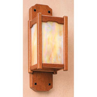 Arroyo Craftsman Thorsen 1 Light Wall Mount in Gold White Irisdescent Glass TWS-9GW