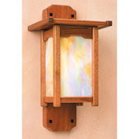 Arroyo Craftsman Thorsen 1 Light Wall Mount in Gold White Irisdescent Glass TWS-9RGW