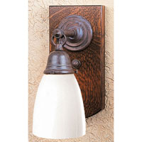 Thorsen 1 Light 5 inch Mission Brown Wall Mount Wall Light