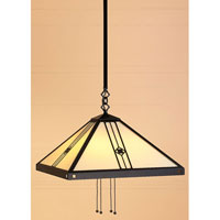 Arroyo Craftsman Utopian 4 Light Pendant in Satin Black USH-16CR-BK