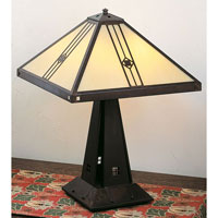 Utopian 22 inch 60 watt Bronze Table Lamp Portable Light in Tan