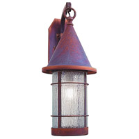 Arroyo Craftsman Valencia 1 Light Outdoor Wall Mount in Raw Copper VB-9RM-RC