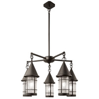 Valencia 5 Light 32 inch Bronze Chandelier Ceiling Light in Rain Mist