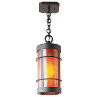 Arroyo Craftsman VH-9NRM-BK Valencia 1 Light 6 inch Satin Black Pendant Ceiling Light in Amber Mica