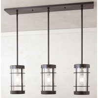 Arroyo Craftsman VICH-9NR/3CS-BZ Valencia 3 Light 36 inch Bronze Pendant Ceiling Light in Clear Seedy thumb