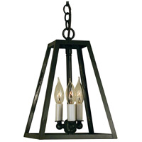 Arroyo Craftsman VIH-9-BZ Vintage 3 Light 9 inch Bronze Pendant Ceiling Light
