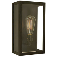 Arroyo Craftsman VIS-12CLR-BZ Vintage 1 Light 7 inch Bronze Wall Mount Wall Light in Clear