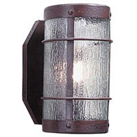 Arroyo Craftsman VS-7NRRM-BZ Valencia 1 Light 5 inch Bronze Wall Mount Wall Light in Rain Mist