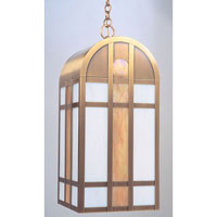 Arroyo Craftsman Yorktown Pendant in Antique Brass YH-10GWC-AB