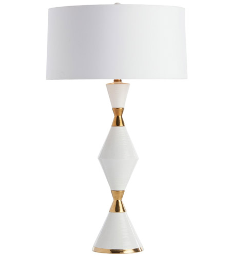 Arteriors 17528 443 Adair 31 Inch White/Gold Ceramic Table Lamp Portable  Light