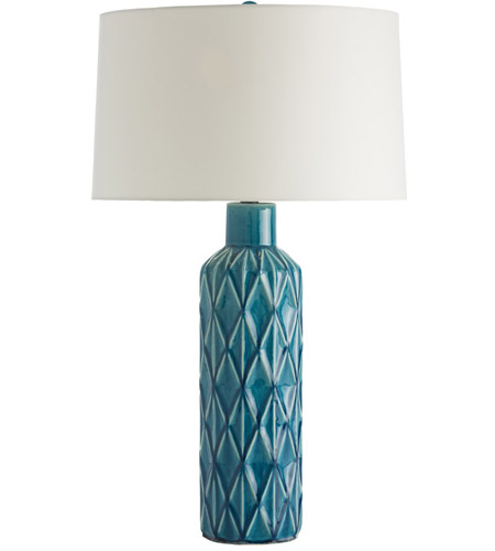 Arteriors 17699 983 Nevada 29 Inch 150 Watt Aqua Table Lamp Portable Light  Photo