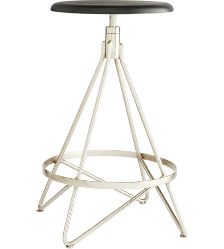 Arteriors 2413 Wyndham 25 Inch Black Stain And Polished Nickel