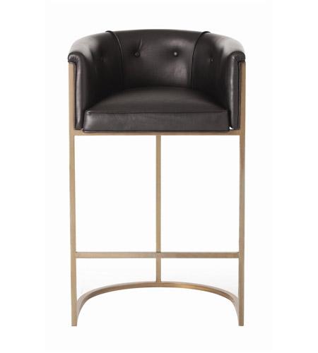 Outstanding Arteriors 2670 Calvin 39 Inch Black And Antique Brass Bar Stool Machost Co Dining Chair Design Ideas Machostcouk