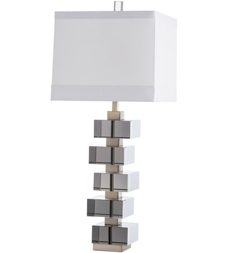 Arteriors 49073 543 Genzer 34 Inch 150 Watt Smoke And Br Table Lamp Portable Light