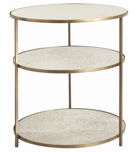 Arteriors Percy Inch Antique Brass Side Table - Brushed brass side table