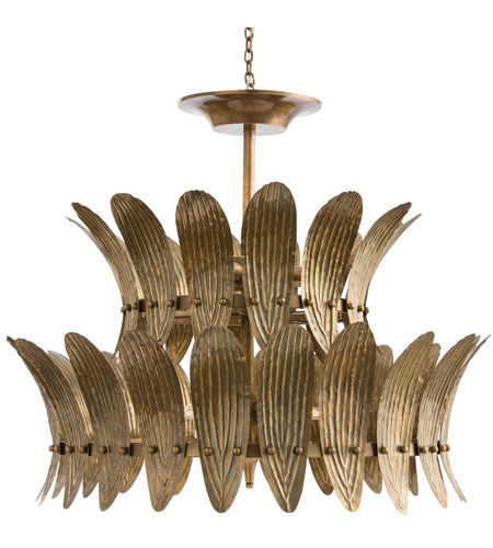 Arteriors 84310 Analise 8 Light 26 inch Vintage Brass/Frosted ...
