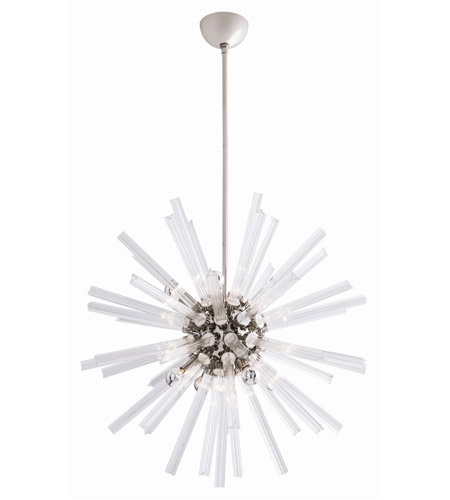 Arteriors Polished Nickel Glass Chandeliers