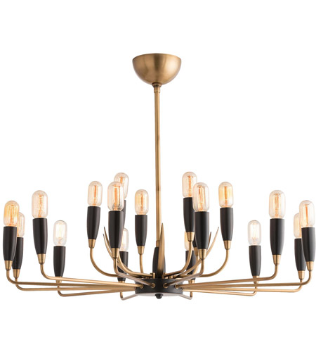 Arteriors 89044 Hardy 18 Light 37 Inch Antique Br Chandelier Ceiling