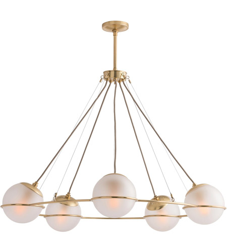 Arteriors Polished Brass Chandeliers