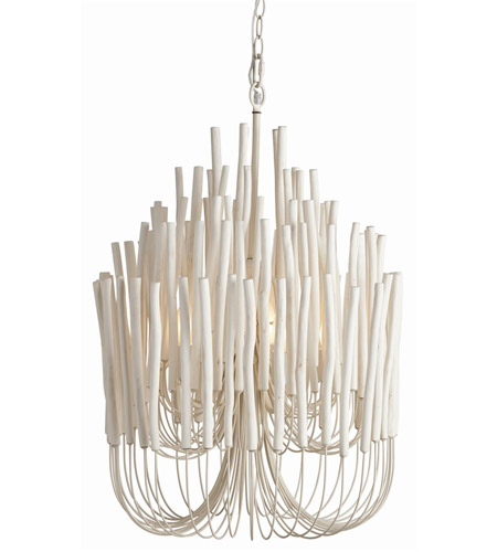 Arteriors 89559 Tilda 5 Light 21 inch Whitewashed Wood and White Chandelier Ceiling Light photo