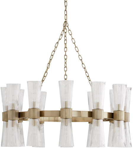 Pale Brass Steel Chandeliers