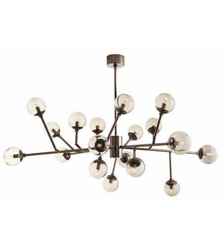 Arteriors 89981 Dallas 18 Light 58 inch Brown Nickel Chandelier Ceiling Light photo