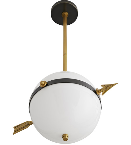 Arteriors DS49035 Windsor Smith Celestial 2 Light 18 inch Antique Brass and Dark Bronze Pendant Ceiling Light alternative photo thumbnail