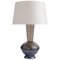 Molly 29 inch 150 watt Cinder Reactive Glaze Table Lamp Portable Light