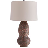 Arteriors 11015-993 Niles 30 inch 150 watt Rum Raisen Reactive Glaze Table Lamp Portable Light