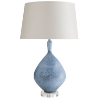 Nanette 28 inch 150 watt Chambray Patterned Table Lamp Portable Light