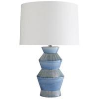 Ogden 28 inch 150 watt Provincial Blue Table Lamp Portable Light