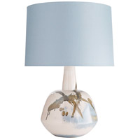 Arteriors 11024-858 Newberry 27 inch 150 watt Blush Abstract Reactive Glaze Table Lamp Portable Light