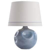 Calypso 27 inch Dusty Blue Ceramic Table Lamp Portable Light