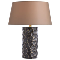 Rudd 22 inch Bronze/Polished Brass Table Lamp Portable Light