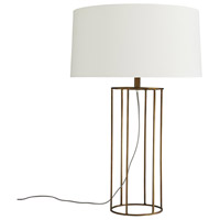 Phillip 28 inch 150 watt Antique Brass Table Lamp Portable Light