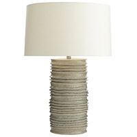 Homer 32 inch 150 watt Celadon Wash and Nickel Table Lamp Portable Light