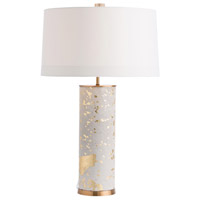 Sheena 29 inch Tan Cowhide/Gold Leaf Table Lamp Portable Light