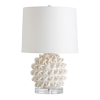 Jamienne 23 inch 150 watt Ivory Crackle and Clear Table Lamp Portable Light