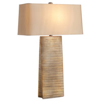 Ravi 31 inch 100 watt Scratched Gilt Gold Table Lamp Portable Light
