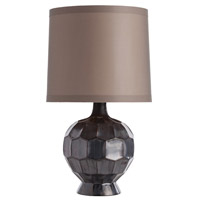 Bryant 28 inch Gunmetal Ceramic Table Lamp Portable Light