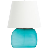 Archer 19 inch Turquoise Glass Table Lamp Portable Light