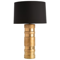 Dorothy 32 inch 150 watt Matte Gold/Gloss Gold Table Lamp Portable Light, Round